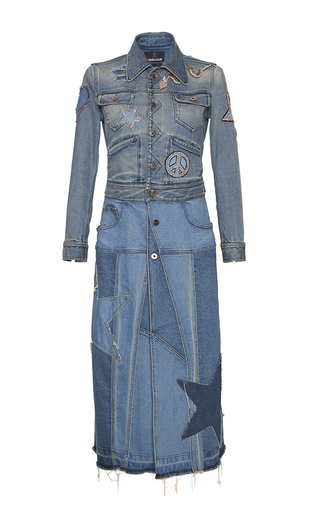 Medium roberto cavalli blue denim coat dress