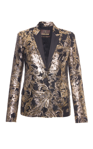 Medium roberto cavalli metallic metallic jacquard blazer