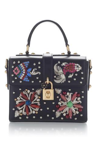 Medium dolce gabbana black embellished box bag