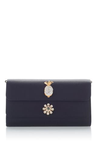 Medium dolce gabbana black embellished envelope clutch