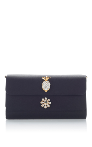 Medium dolce gabbana black embellished envelope clutch
