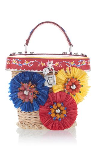 Medium dolce gabbana neutral holdall basket bag