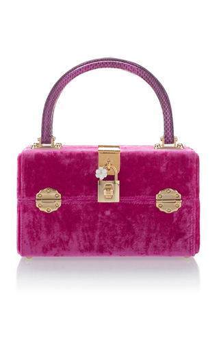 Medium dolce gabbana pink velvet box bag