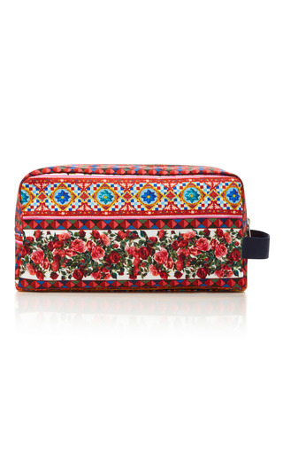 Medium dolce gabbana multi printed wash bag 2