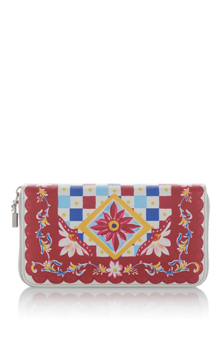 Medium dolce gabbana multi printed leather wallet