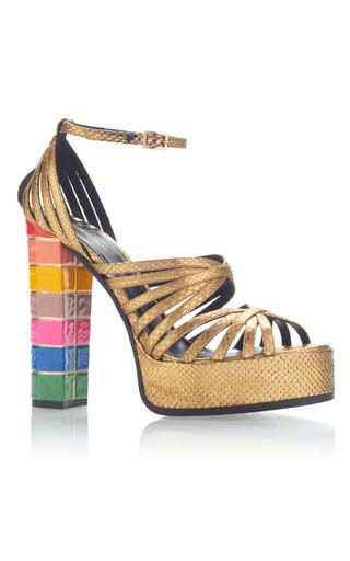 Medium roberto cavalli gold cosmo sandal
