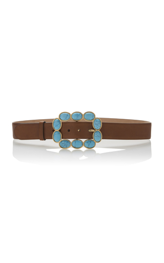 Medium roberto cavalli brown sfera fashion belt in cuoio
