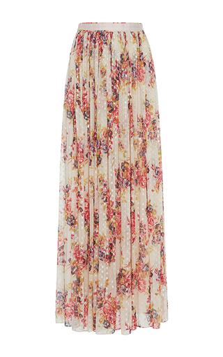 Medium needle thread floral prairie rose floral maxi skirt