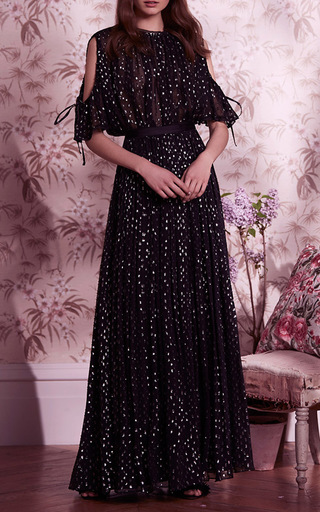 952fed994f3 Lurex Chiffon Maxi Skirt by Needle   Thread