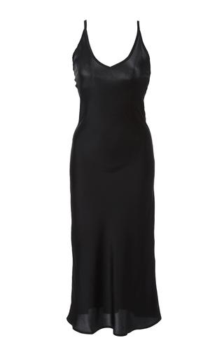 Medium sleeper black kate slip dress
