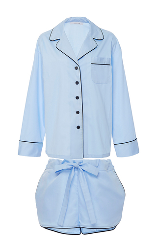 Medium sleeper light blue pajama short set