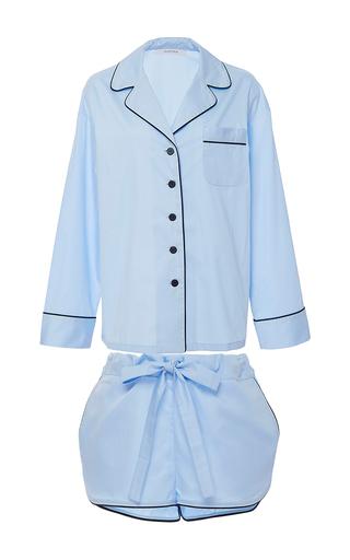 Medium sleeper light blue pajama short set