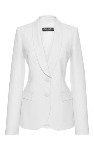Medium dolce gabbana ivory shawl collar blazer