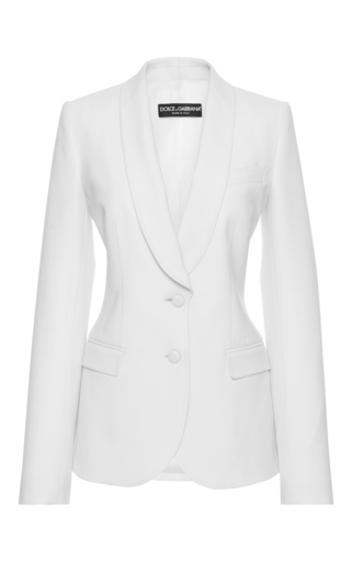 Medium dolce gabbana ivory shawl collar blazer