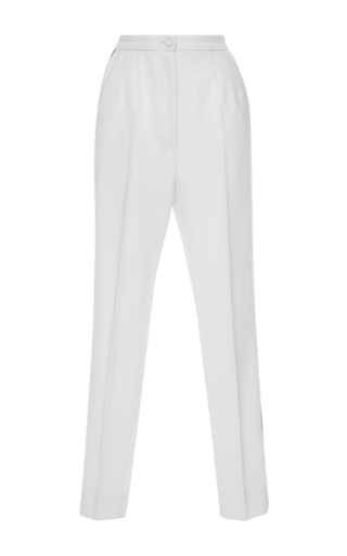 Medium dolce gabbana ivory high waist pleated trousers