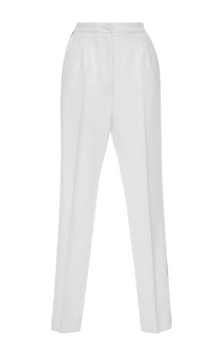 Medium dolce gabbana ivory high waist pleated trousers