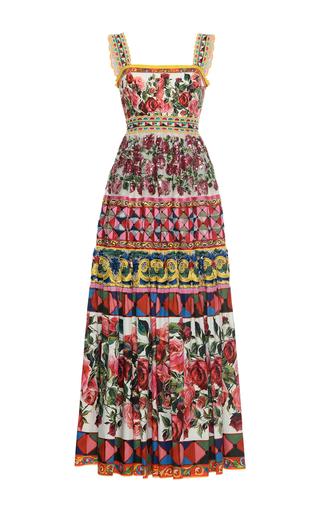 Medium dolce gabbana print pleated maxi dress