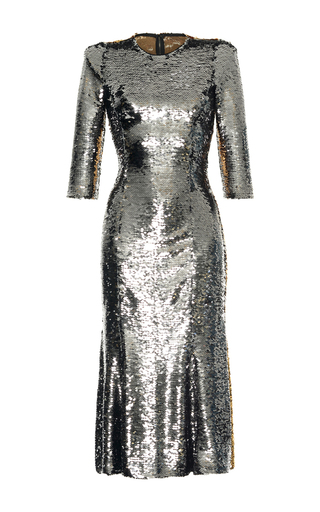 Medium dolce gabbana metallic bicolor paillet dress