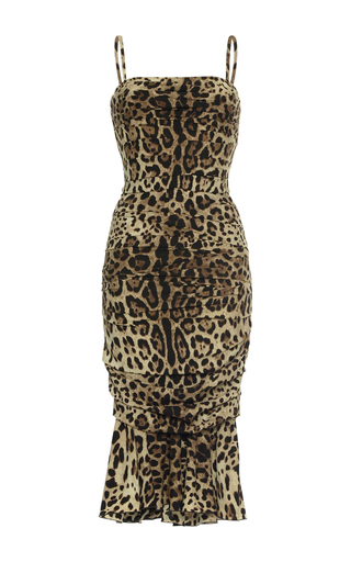 Medium dolce gabbana animal leopard cocktail dress