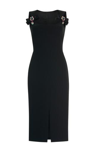 Medium dolce gabbana black sleeveless embellished midi dress