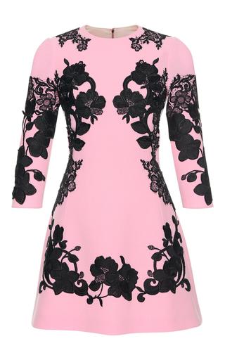 Medium dolce gabbana pink floral lace mini dress