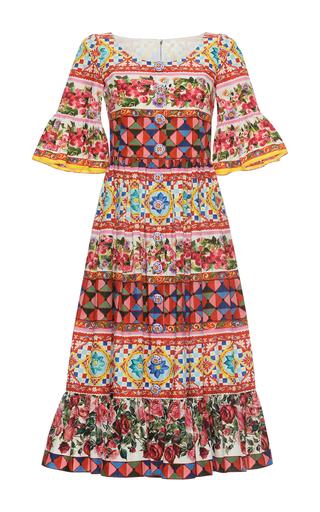 Medium dolce gabbana print bell sleeve mini dress