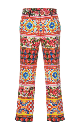 Medium dolce gabbana print printed crop trouser