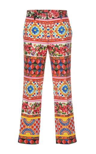 Medium dolce gabbana print printed crop trouser