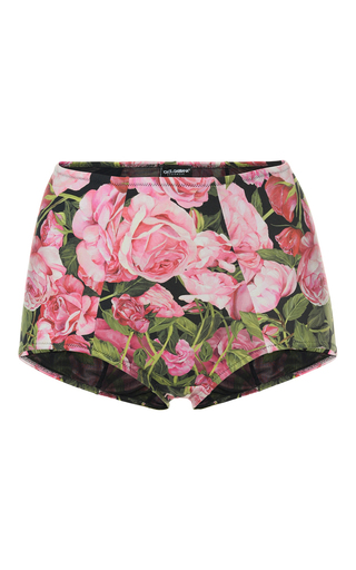 Medium dolce gabbana floral high waist bikini bottom