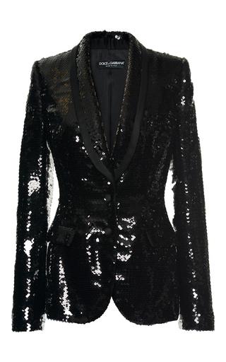 Medium dolce gabbana black paillette evening blazer