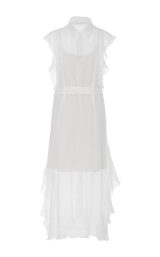 26675161677 Marissa WebbRuth Silk Ruffled Shirt Dress