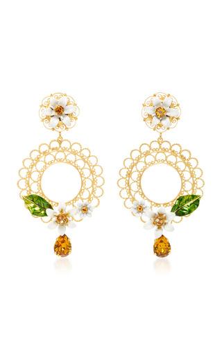 Medium dolce gabbana multi daisy clip earrings