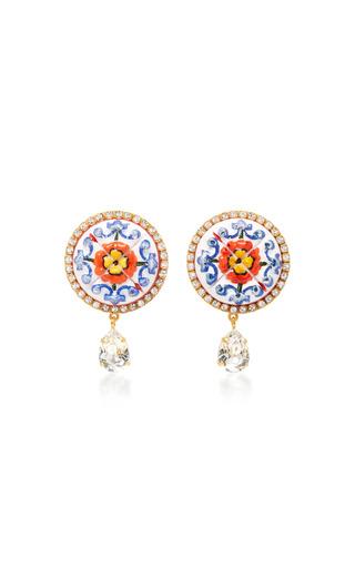 Medium dolce gabbana multi flower clip earrings 2