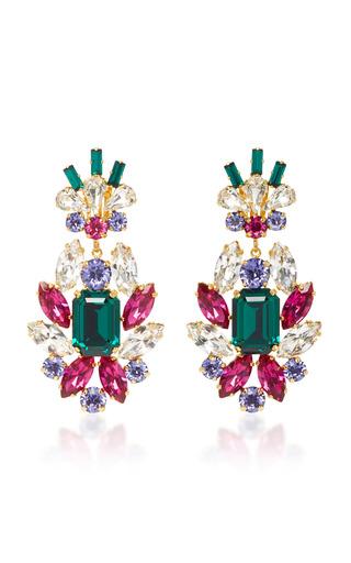 Medium dolce gabbana multi crystal clip earrings 2