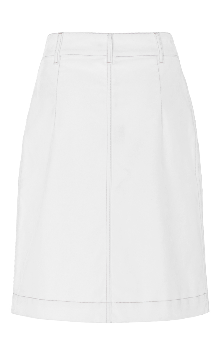 denim fitted mini skirt by tomas maier moda operandi