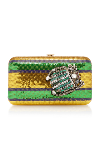 Medium rochas multi borsa paillette clutch