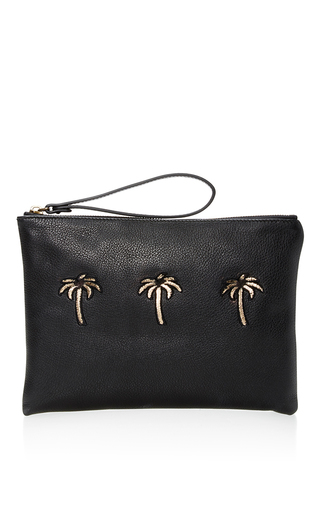 Medium tomas maier black black granada palms cosmetic case