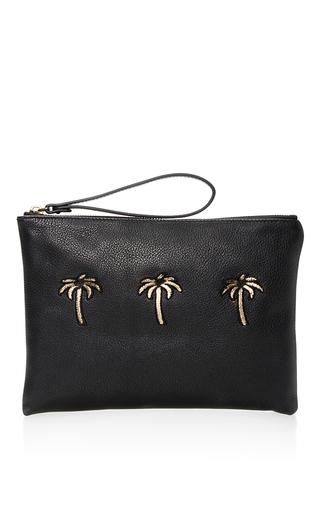 Medium tomas maier black black granada palms cosmetic case