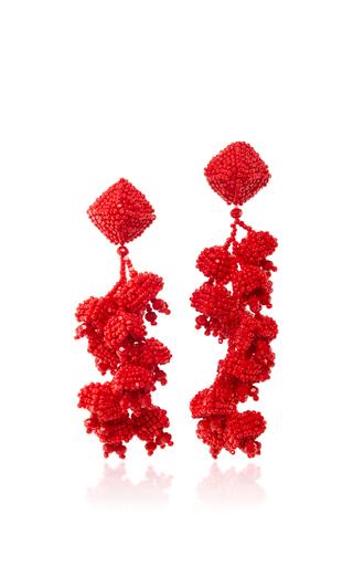 Medium sachin babi red the grapes coral earrings