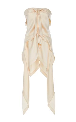 Medium kitx off white fluid drape strapless top