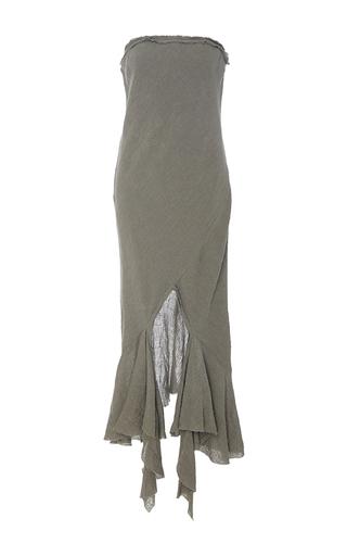 Crush Linen Strapless Midi Dress by Kitx   Moda Operandi