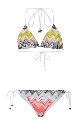 Medium missoni mare multi triangle side tie bikini 2