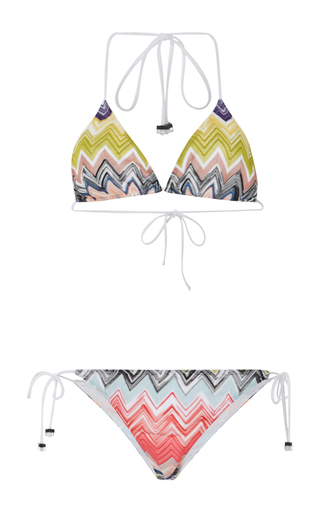 Medium missoni mare multi triangle side tie bikini 2