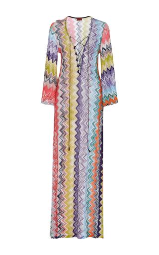 Medium missoni mare multi lace up maxi dress
