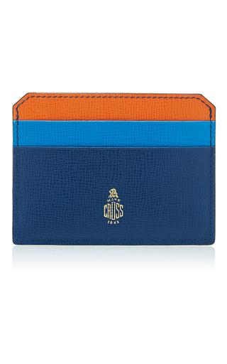 Medium mark cross multi tricolor leather card case