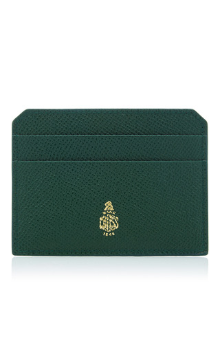 Medium mark cross green mini leather card case