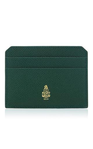 Medium mark cross green mini leather card case