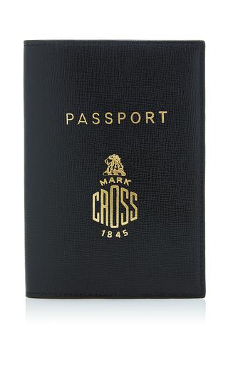 Medium mark cross black leather passport holder