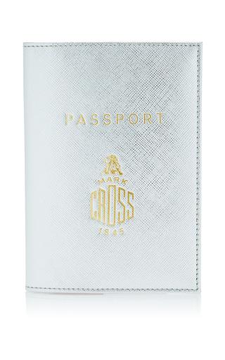 Medium mark cross silver leather passport holder 2
