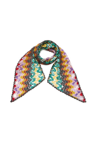 Medium missoni multi metallic crochet knit scarf